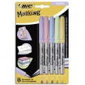 BIC Blister de 5 marking color. Assortis de couleurs pastels et intenses