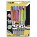 BIC Blister de 12 marqueurs permanents Marking® coloris assortis intense
