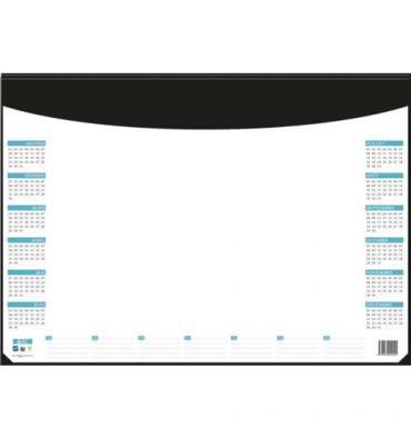 CBG Sous-main 25 feuillets inséré dans socle PVC noir, 25 feuilles grille perpétuelle