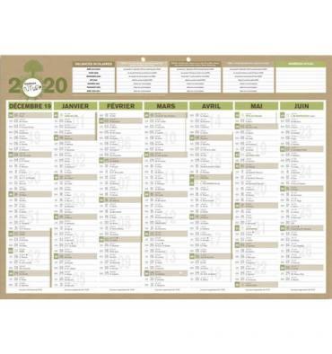 CBG Calendrier de banque recyclé format 40,5 x 55 cm Natura 7 mois par face