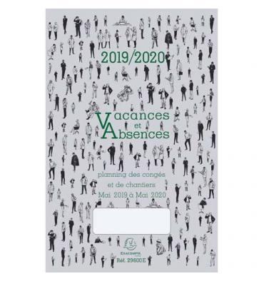 EXACOMPTA Planning dépliant CONGES Mai à Mai, format 20 x 29,7 cm