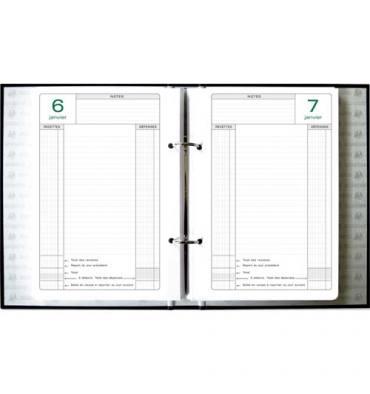 EXACOMPTA Recharge pour classeur Caisse perpétuel 1 jour par page, format 16 x 24 cm