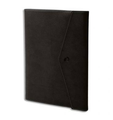 QUO VADIS Agenda Clover Toscana Ministre S spiralé, 1S/2P + répertoire, papier ivoire - 16 x 24 cm noir