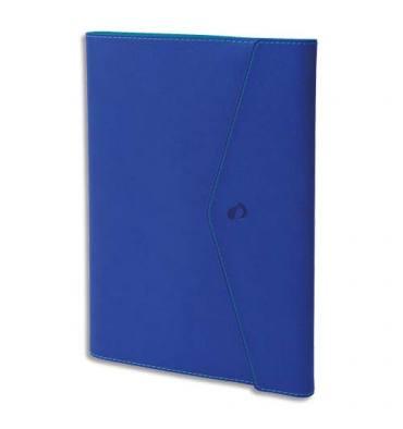 QUO VADIS Agenda Clover Toscana Ministre S spiralé, 1S/2P + répertoire, papier ivoire - 16 x 24 cm bleu