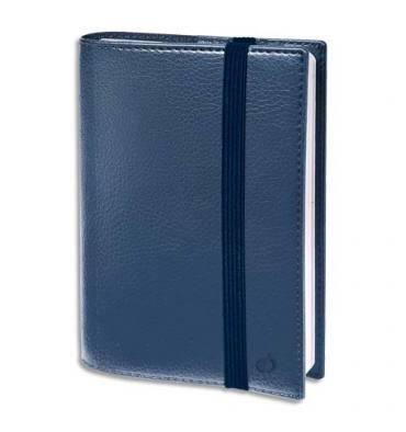 QUO VADIS Agenda Time and Life 1S/2P + répertoire, fermeture élastique - 10 x 15 cm bleu métal