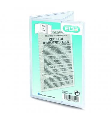 ELBA Etui 6 faces pour carte grise 8,5 x 12,5 cm en PVC 30/100e