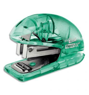 ESSELTE Agrafeuse mini Colour'ice avec ôte agrafes, agrafes 24/6, capacité 10 feuilles. Vert translucide