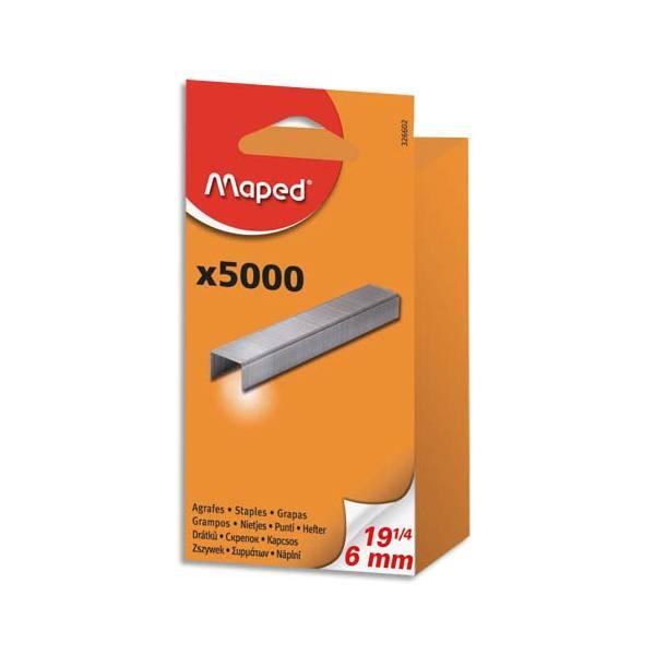 MAPED Boîte de 5000 agrafes SP 19-1/4 galvanisé