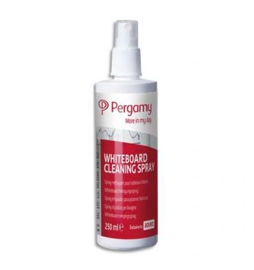 PERGAMY Spray nettoyant tableaux blancs, odeur de citron. Contenance 250 ml