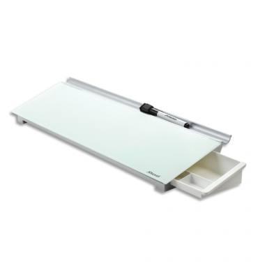 NOBO Bloc-notes en verre effaçable Diamond Glass, livré avec marqueur / effaçeur