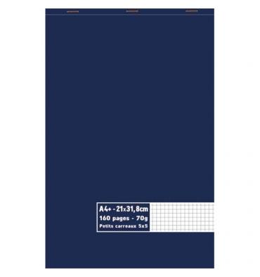 NEUTRE Bloc 70g agrafé en tête 160 pages 5x5 Format A4+ - 21 x 31,8 cm