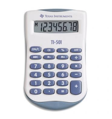 TEXAS Calculatrice de poche 8 chiffres TI-501