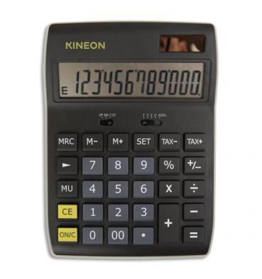 KINEON Calculatrice de bureau semi-professionnelle à écran incliné, 12 chiffres, DX-350