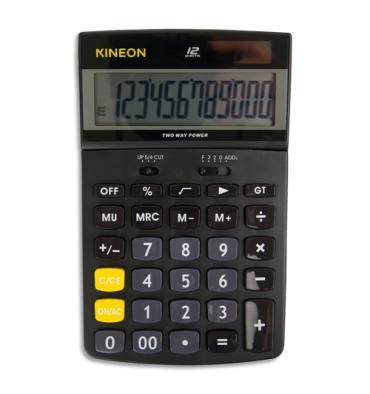 KINEON Calculatrice de bureau professionnelle inclinable 418, 12 chiffres