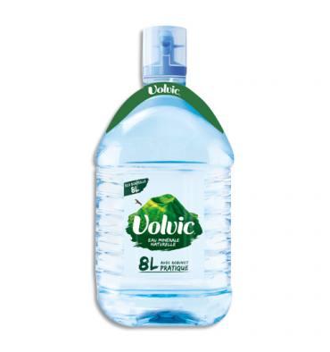 VOLVIC Bouteille plastique fontaine d'eau minérale de 8 litres