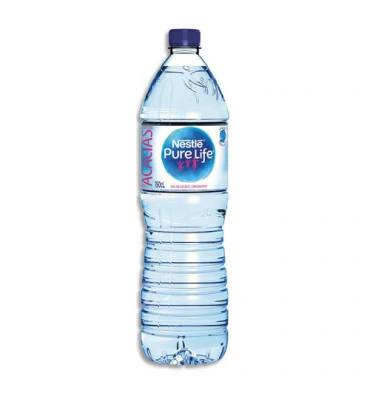 NESTLE Bouteille plastique d'eau plate de 1,5 litres Pure Life