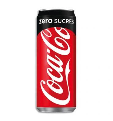 COCA COLA Zéro canette de boisson gazeuse pétillante sans sucre de 33 cl