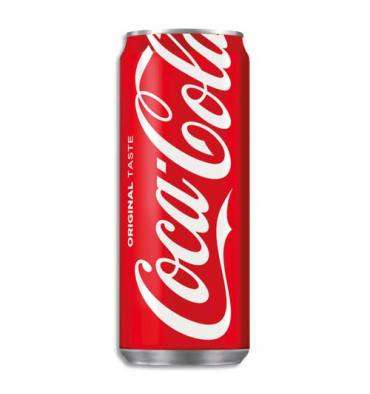 COCA COLA Canette de boisson gazeuse pétillante de 33 cl