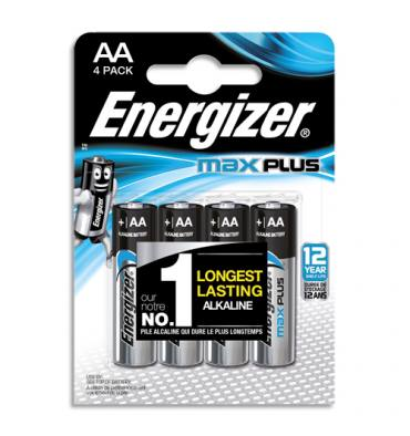 ENERGIZER Blister de 4 piles AA LR6 MAX PLUS