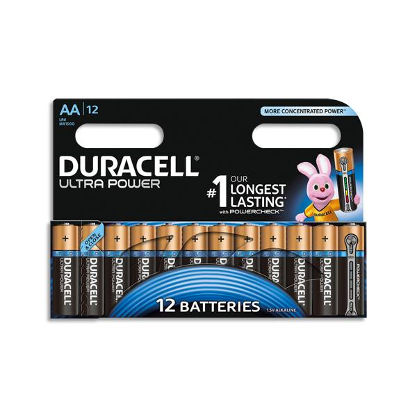 DURACELL Blister de 12 piles Ultra AA - LR6 (photo)