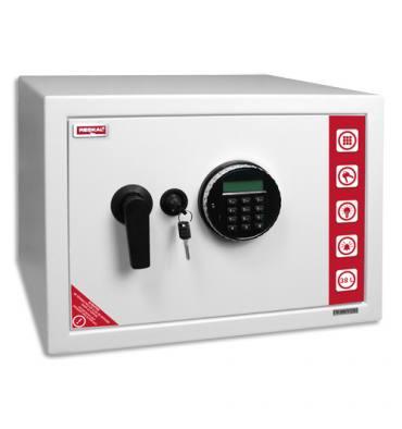 RESKAL Coffre de sécurité SE3 Premium 38,5 litres Blanc, serrure électronique - L43 x H31 x P35 cm