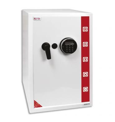 RESKAL Coffre de sécurité SE4 Premium 78 litres Blanc, serrure électronique - L39 x H60,5 x P41 cm