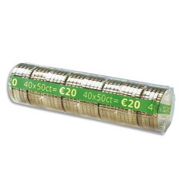 WONDAY Boîte de 100 étuis à Monnaie The Container pour pièces 0,50 €, contient 40 pièces FA62261