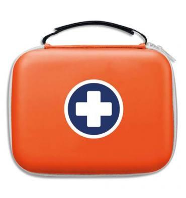 LABORATOIRES ESCULAPE Trousse de secours Orange, 2 compartiments intérieur transparent, pour 10 personnes