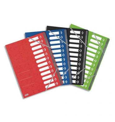 OXFORD Trieur TOP FILE 8 positions couverture en carte A4 assortis