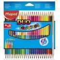 MAPED Pochette carton de 24 crayons de couleur DUO COLOR'PEPS