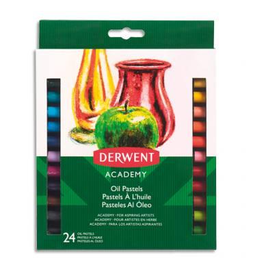 DERWENT ACADEMY Set de 24 pastels à l'huile, couleurs assorties