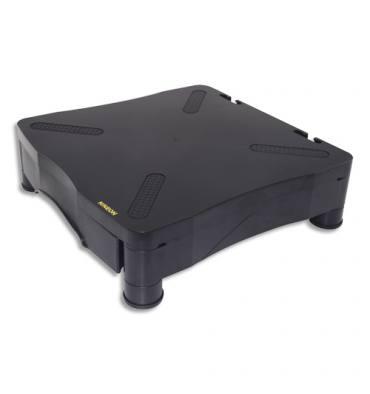 KINEON Support moniteur Deluxe avec tiroir Noir