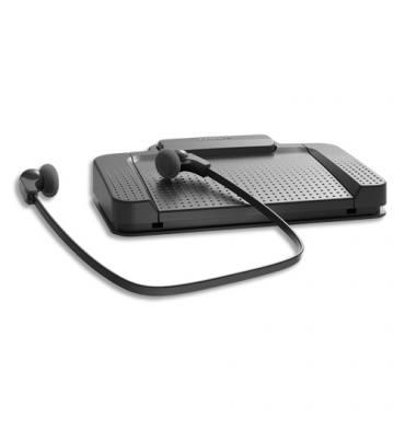 PHILIPS Kit de transcription comprenant pédalier USB, casque et logiciel SpeechExec Pro Transcribe