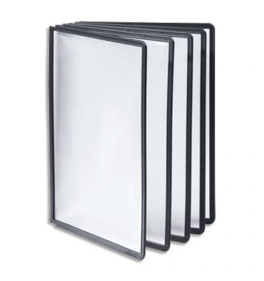 DURABLE Sachet de 5 Pochettes Noir en polypropylène Format A4, pour pupitre d'affichage Sherpa et Vario