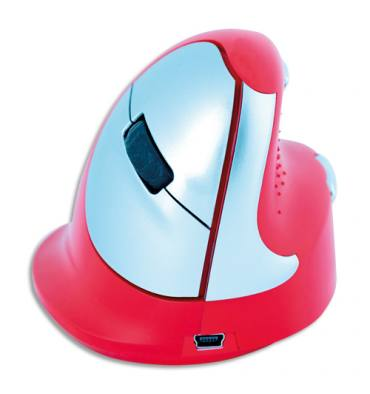 R-GO-TOOLS Souris ergonomique rouge sport gaucher R-GO HE SPORT