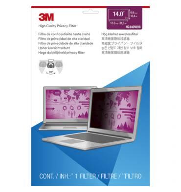 """3M Filtre de confidentialité pour ordinateur portable de 14"""" HC140W9B"""