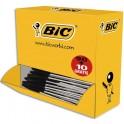 BIC Pack 90 stylos bille Cristal noir + 10 offerts. Pointe moyenne