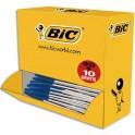 BIC Pack 90 stylos bille Cristal bleu + 10 offerts. Pointe moyenne