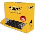 BIC Pack 90 stylos bille M10 noir + 10 offerts. Pointe moyenne