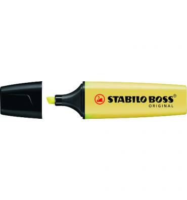 STABILO Surligneur PASTEL BOSS jaune. Pointe biseautée