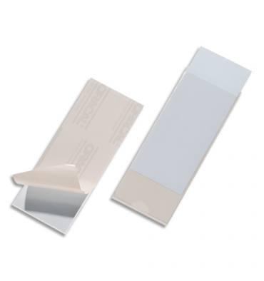 DURABLE Sachet de 10 porte-étiquettes adhésifs Pocketfix format 60 x 150 mm polypropylène