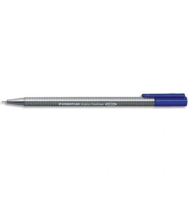 STAEDTLER Stylo feutre fineliner TRIPLUS bleu. Pointe fine 0,3 mm