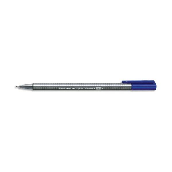 Staedtler stylo feutre fineliner triplus bleu. pointe fine 03 mm