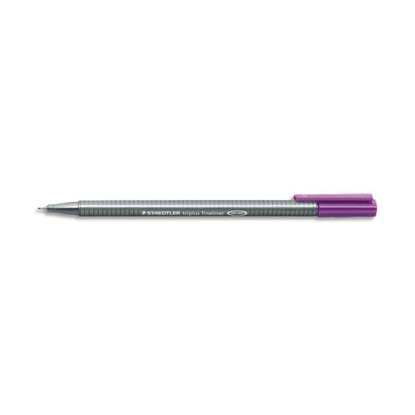 Staedtler stylo feutre fineliner triplus violet. pointe fine 03 mm