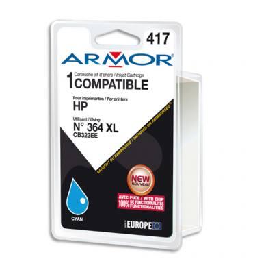 ARMOR Cartouche compatible jet d'encre Cyan HP 364XL