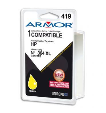 ARMOR Cartouche compatible jet d'encre Jaune HP 364XL