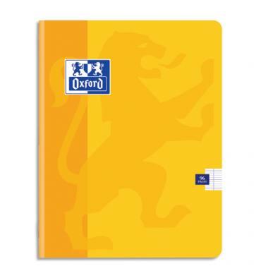 OXFORD Cahier Color'Life piqûre 96 pages Seyès 24 x 32 cm. Couverture carte coloris jaune