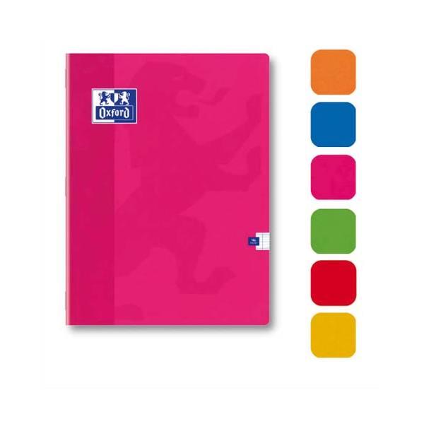 OXFORD Cahier Color'Life piqûre 96 pages 5x5 24 x 32 cm. Couverture carte assortis