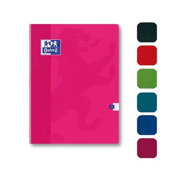 OXFORD Cahier Color'Life piqûre 140 pages Seyès 21 x 29,7 cm couverture carte assortis