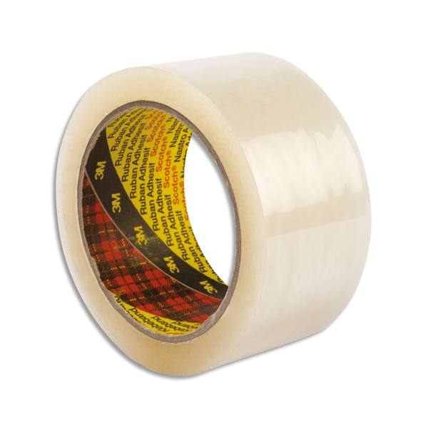 SCOTCH Ruban adhésif en polypropylène silencieux 50 microns transparent, format 50 mm x 66 m (photo)
